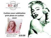 RED ART -  London Canvas Wall Art | Red Art| Camden Town