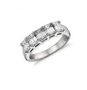 Classic Five Cut Emerald Engagement Ring