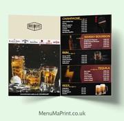 A3 Restaurant Menu Restaurant Menu Printing MenuMa Print