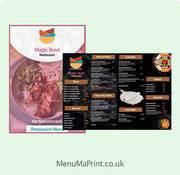 Restaurant Menu Printing  Z Fold Leaflet  MenuMa Print
